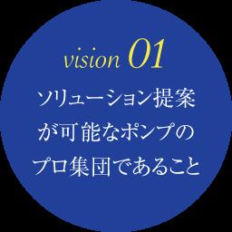 vision 01 ソリューション提案が可能なポンプのプロ集団であること
