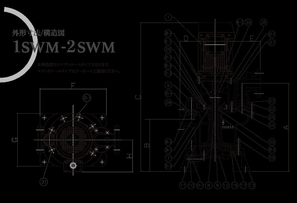 1SWM-2SWM外形寸法図