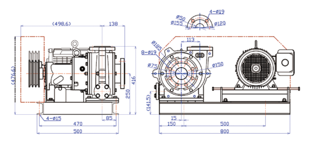 2CO type外形寸法図